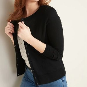 Semi-Fitted Button-Front Cardi for Women Size L